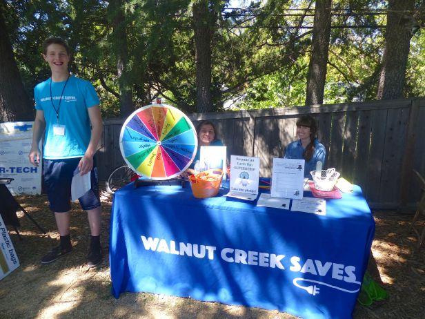 Walnut Creek Saves exhibit w Staci and student
